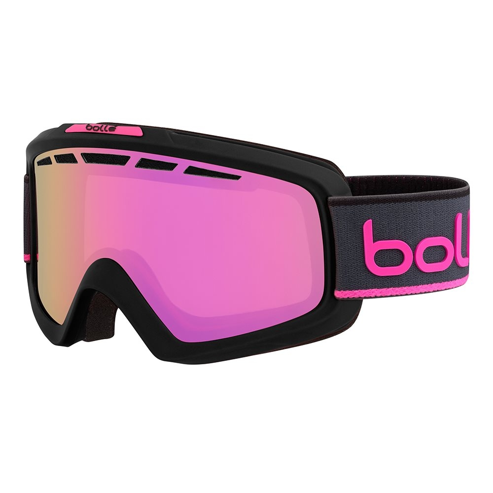 Bolle Nova II Goggle Matte Black and Neon Pink Rose Gold 2018