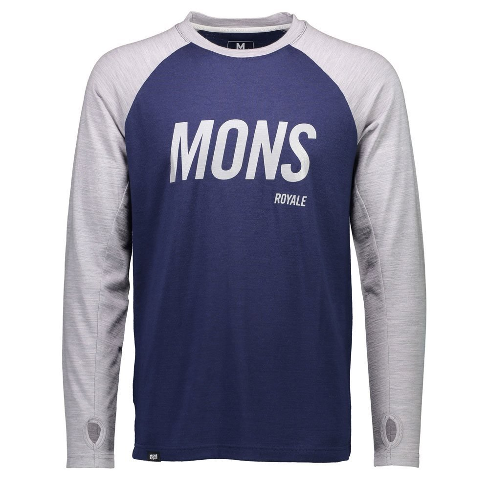 Mons Royale Coreshot Raglan LS Navy/Grey Marl 2018
