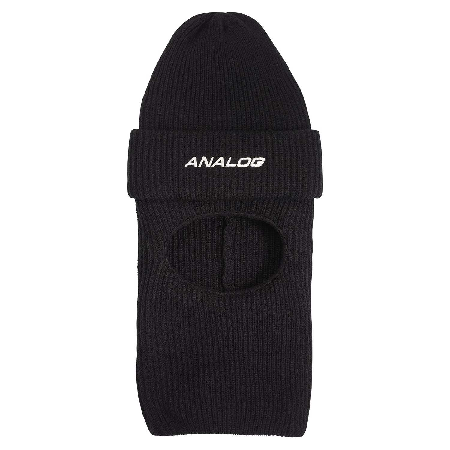 Analog Double D Facemask Beanie True Black 2020
