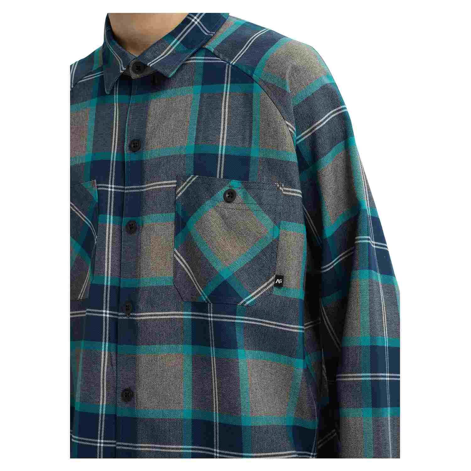 Analog Transmission Flannel Shirt Green/Blue Mind Plaid 2020