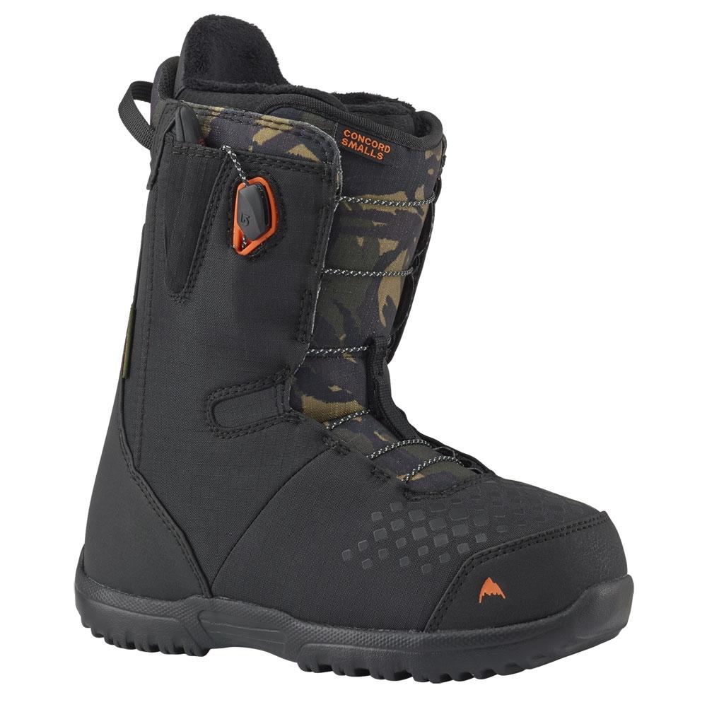 a4f3e605db4411 Burton Concord Smalls Junior Boot Black   Camo 2019 - Snowtrax