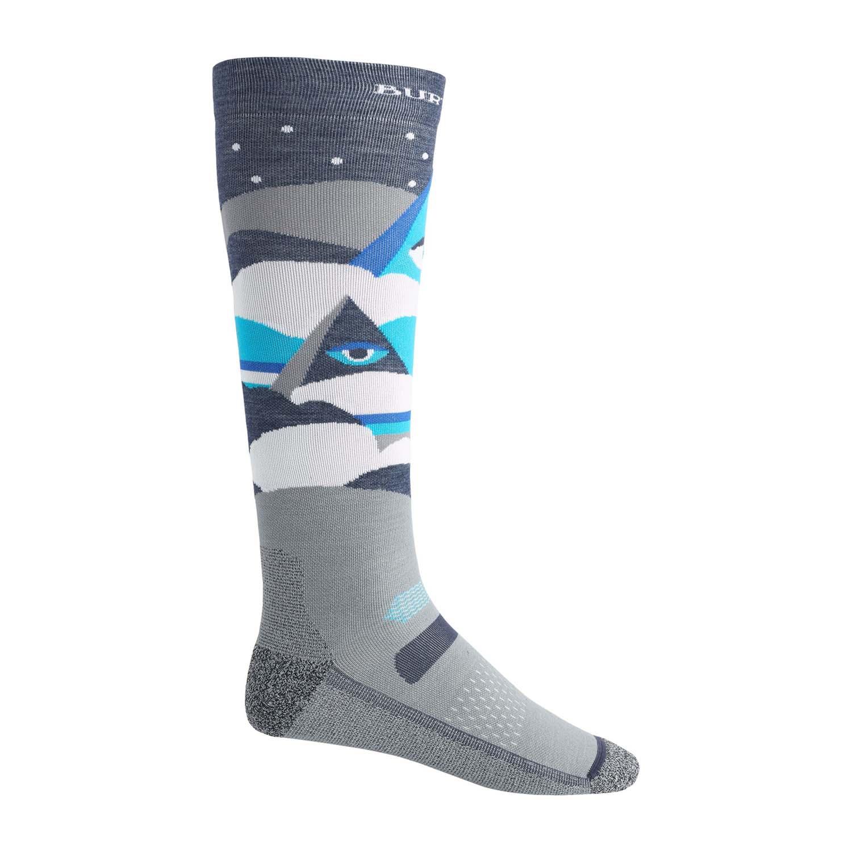 Burton Mens Performance Ultralight Sock Gray Heather 2020