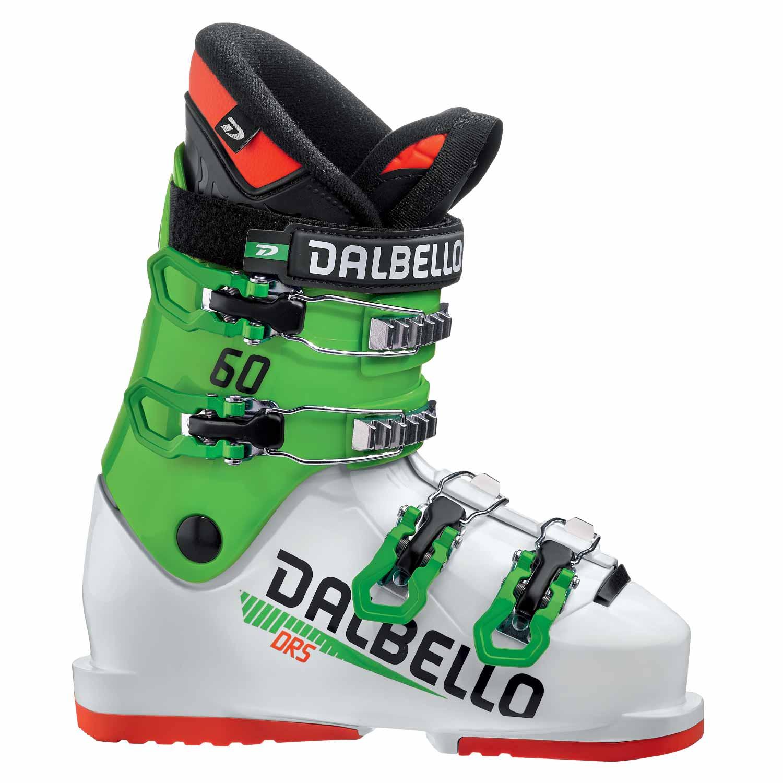 Dalbello DRS 60 Junior Race Ski Boot White/Race Green 2020