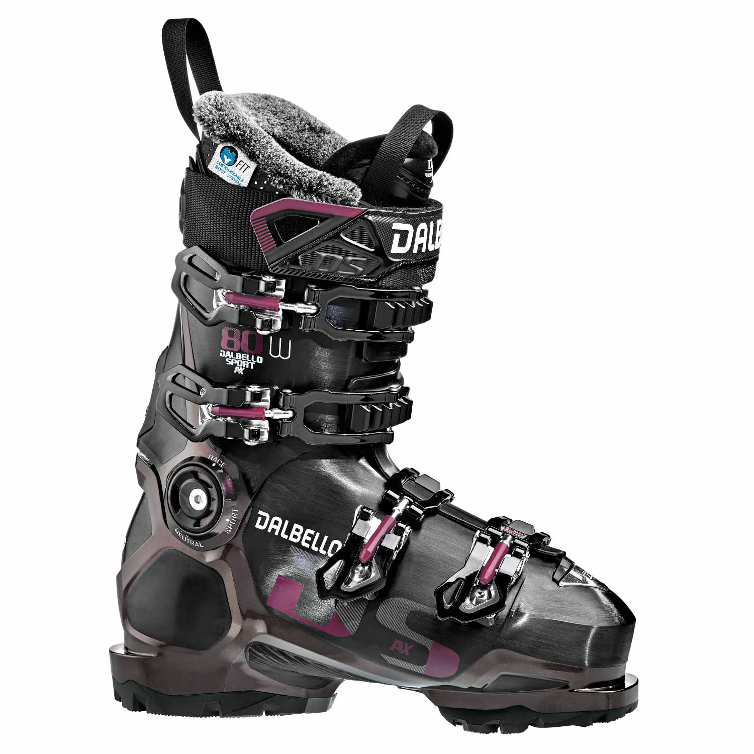 Dalbello DS AX 80 W Ski Boot Black/Opal Ruby 2020