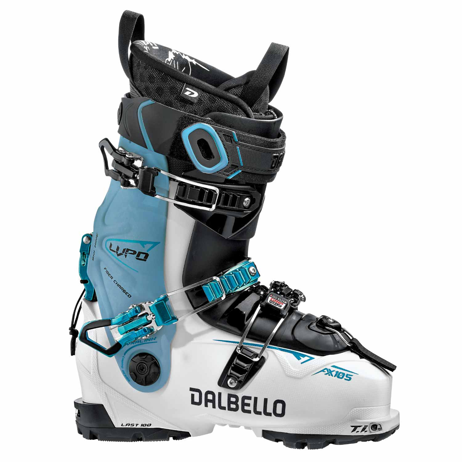 Dalbello Lupo AX 105 W Ski Boot White/Blue Cyan 2020