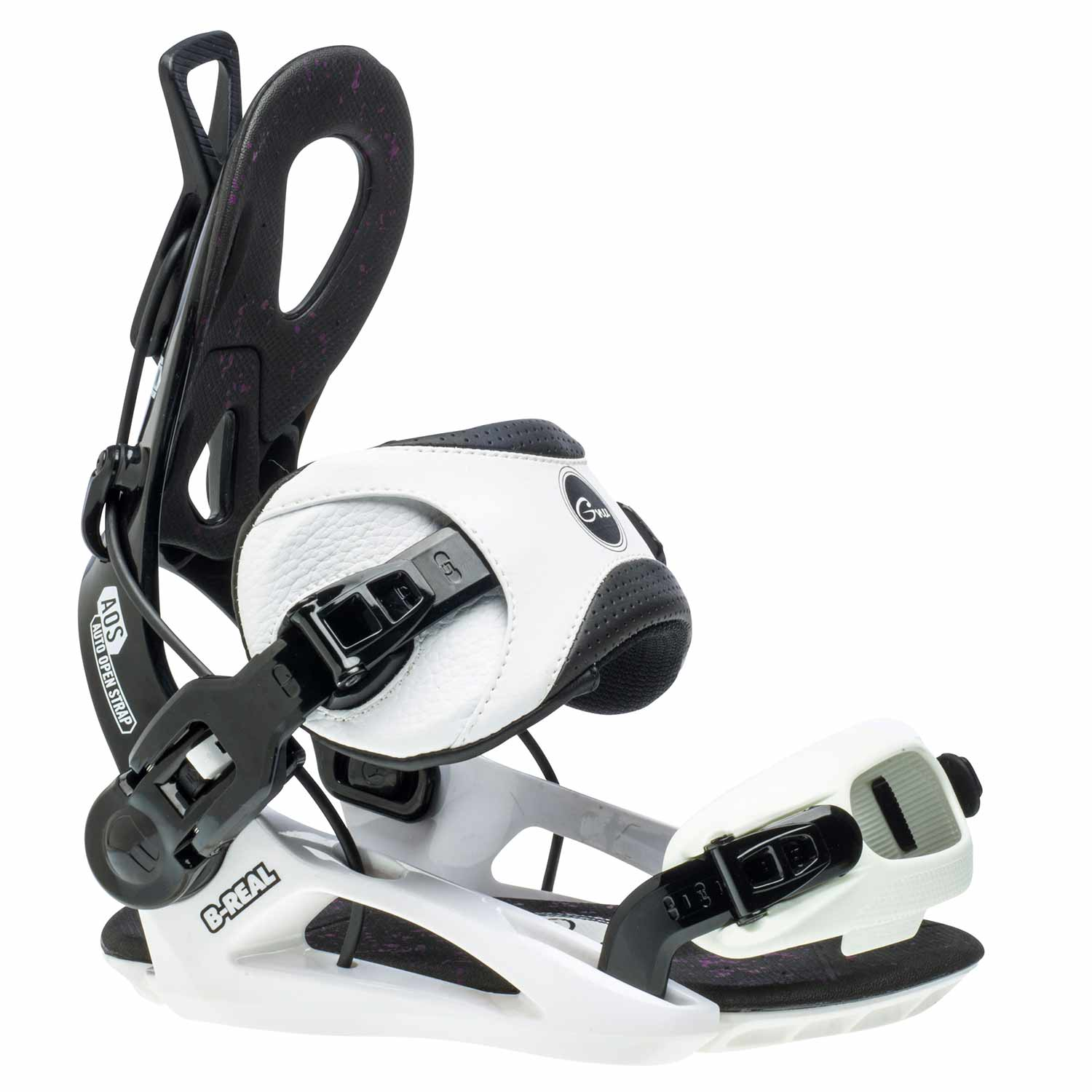 Gnu B-Real Snowboard Binding White 2020