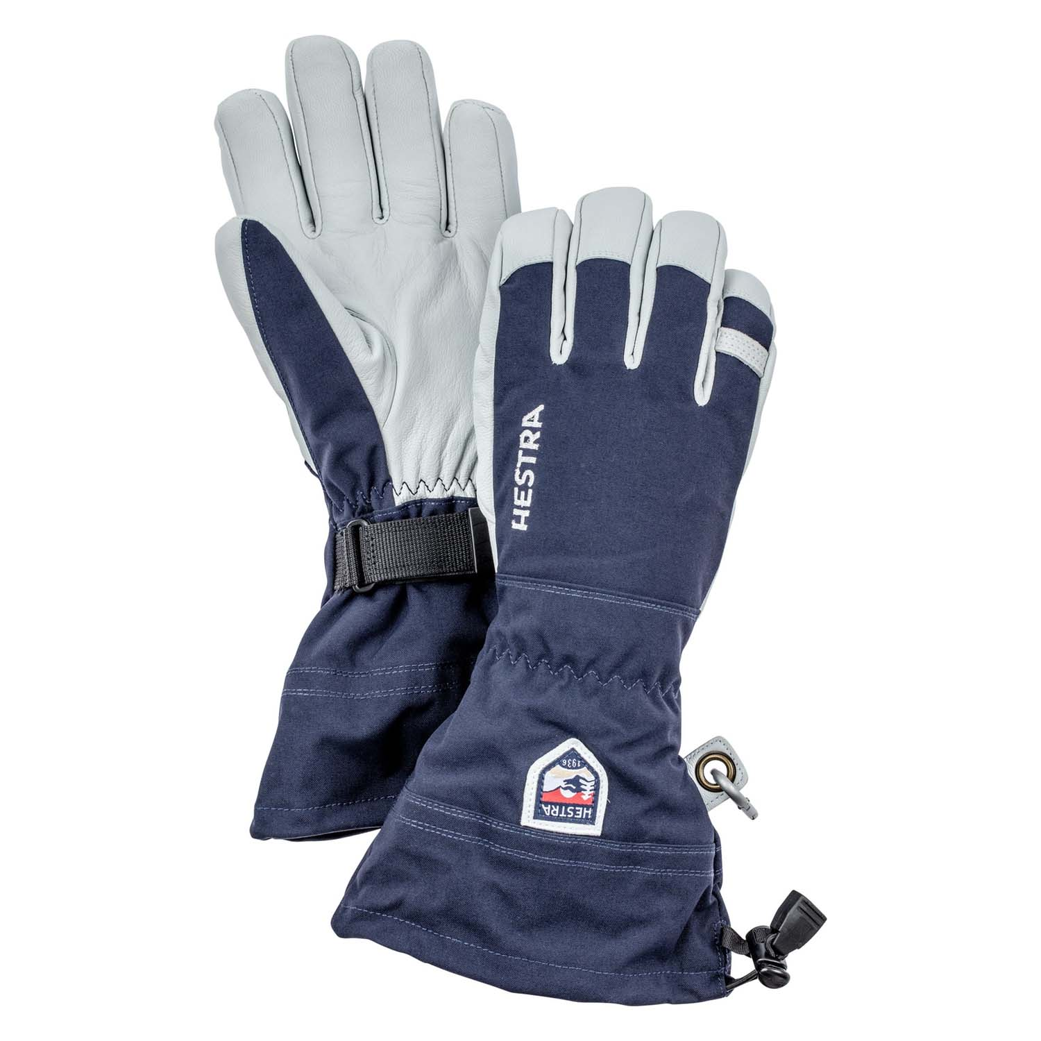 Hestra Army Leather Heli Ski Glove Navy 2020