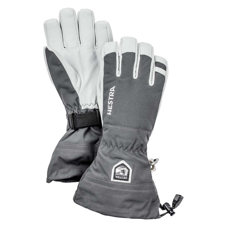 Hestra Army Leather Heli Ski Glove Grey 2020