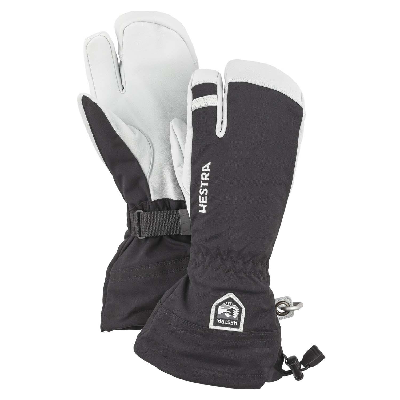 Hestra Army Leather Heli Ski 3-Finger Glove Black 2020