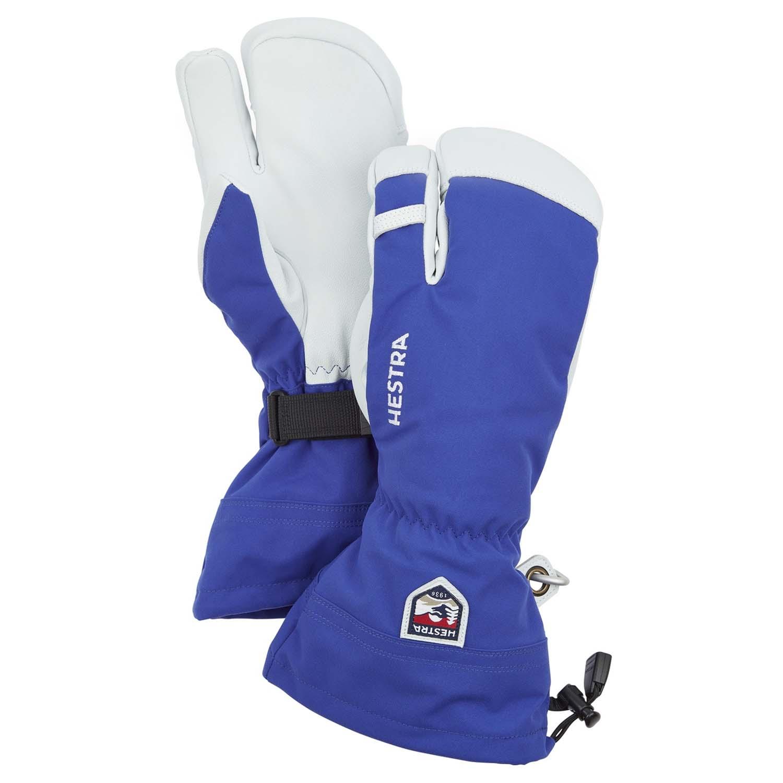Hestra Army Leather Heli Ski 3-Finger Glove Blue 2020