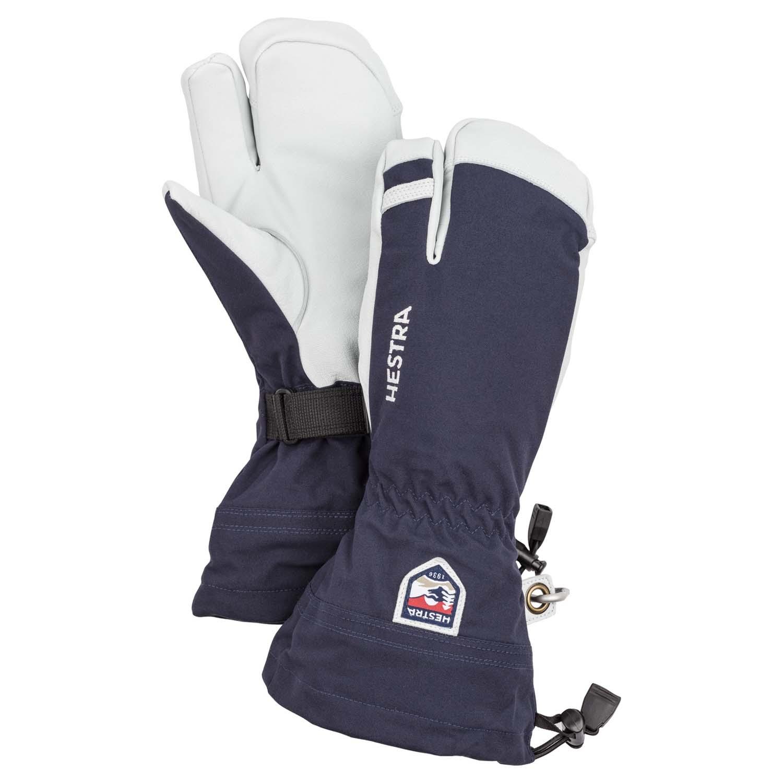 Hestra Army Leather Heli Ski 3-Finger Glove Navy 2020