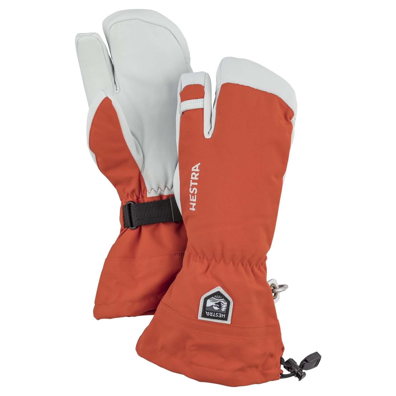 Hestra Army Leather Heli Ski 3-Finger Glove Brick Red 2020