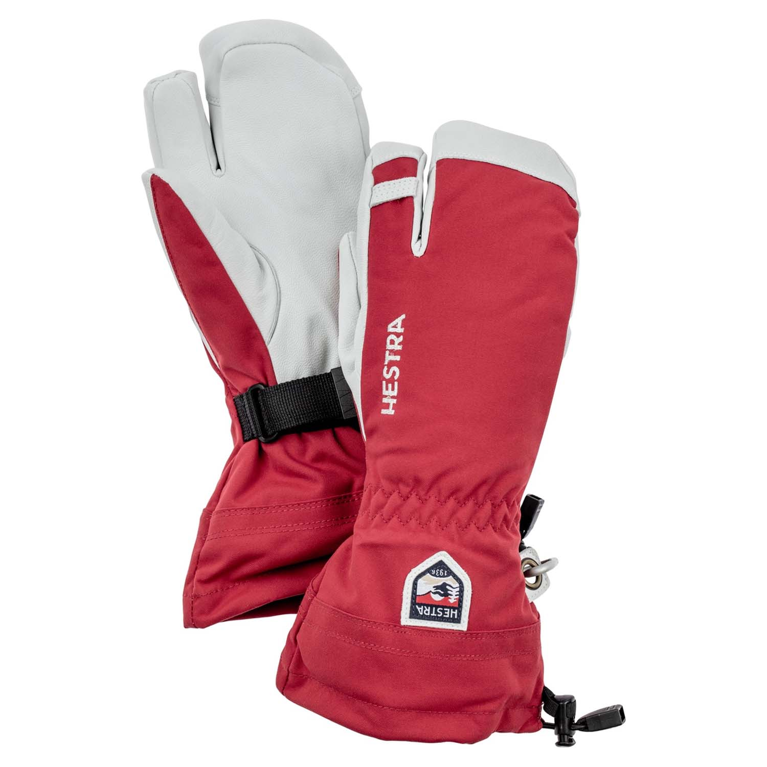Hestra Army Leather Heli Ski 3-Finger Glove Red 2020