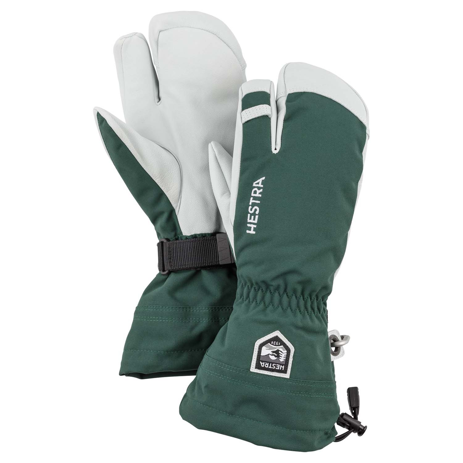 Hestra Army Leather Heli Ski 3-Finger Glove Green 2020