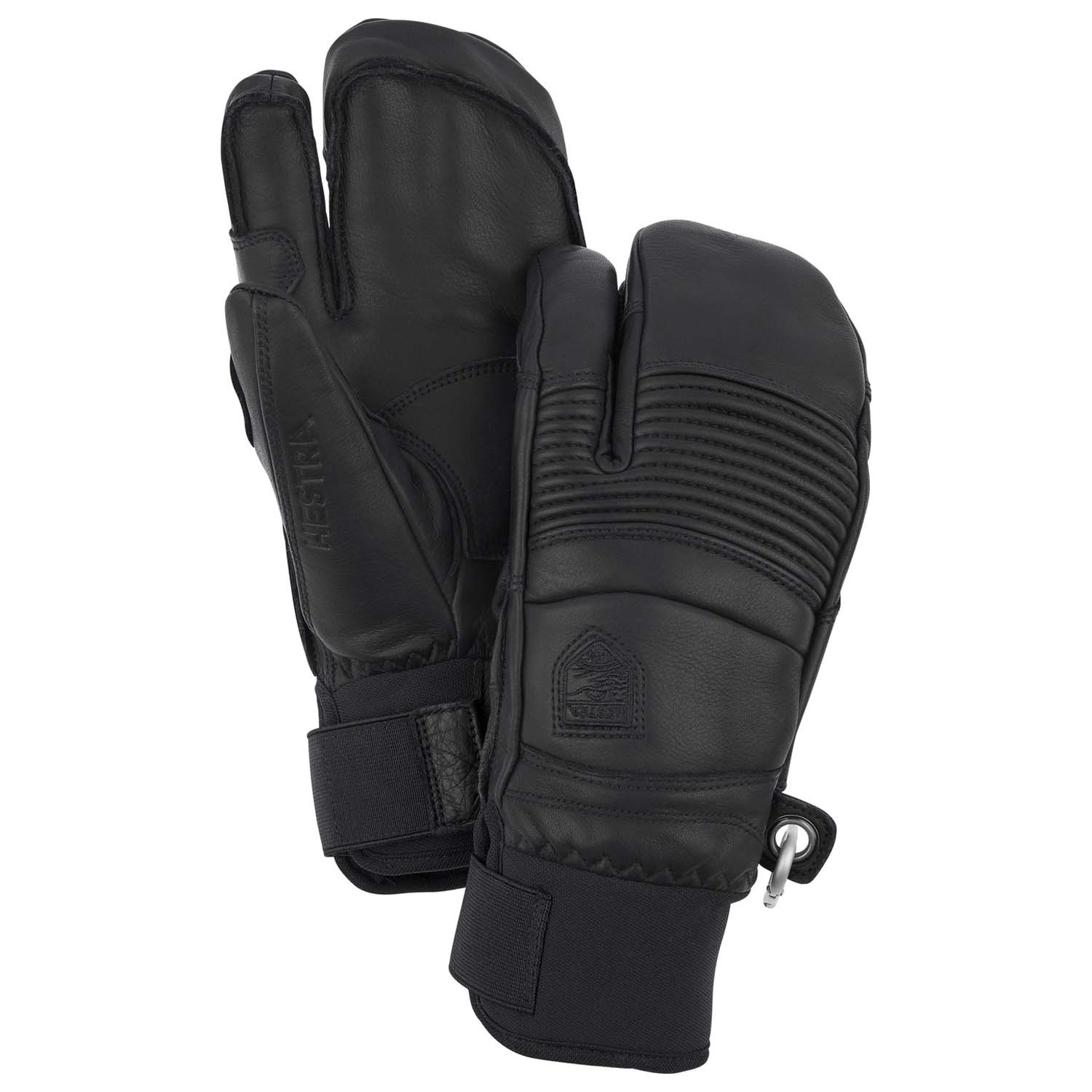 Hestra Leather Fall Line 3-Finger Glove Black 2020