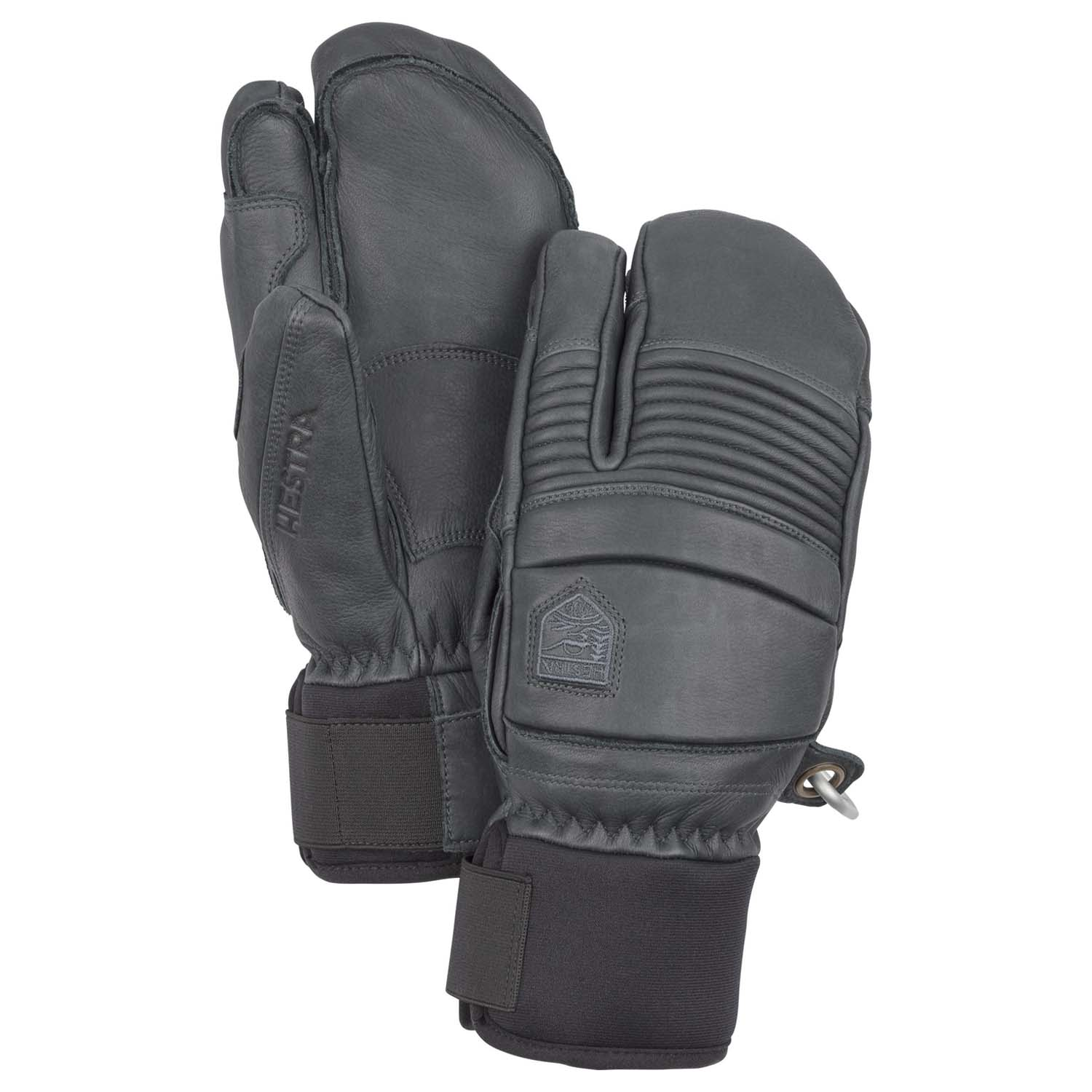 Hestra Leather Fall Line 3-Finger Glove Grey 2020