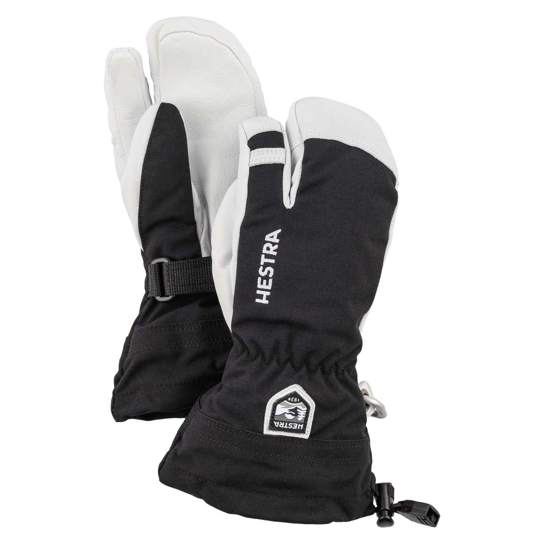 Hestra Army Leather Heli Ski Junior 3-Finger Glove Black 2020