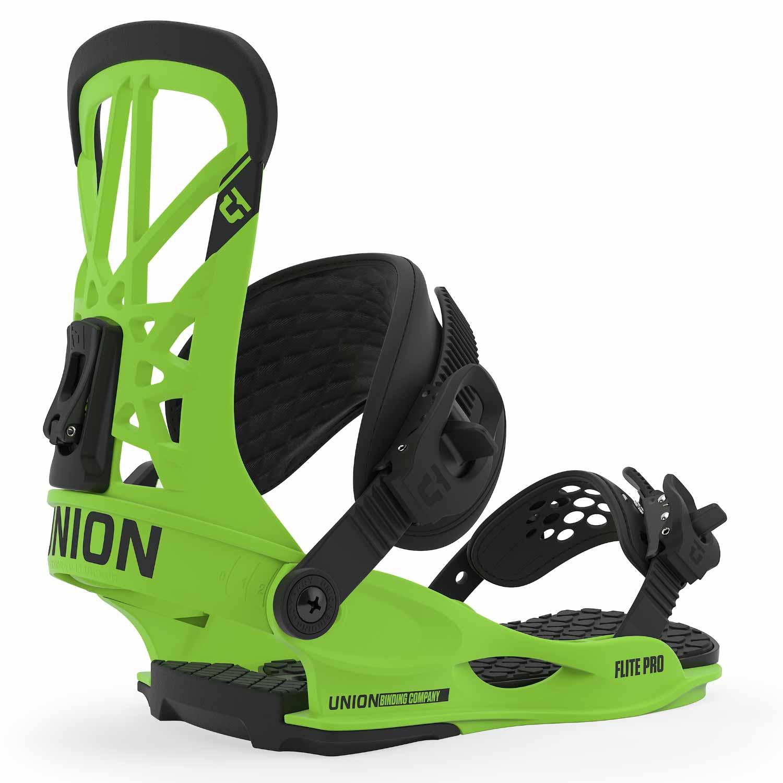 Union Flite Pro Snowboard Binding Acid Green 2020