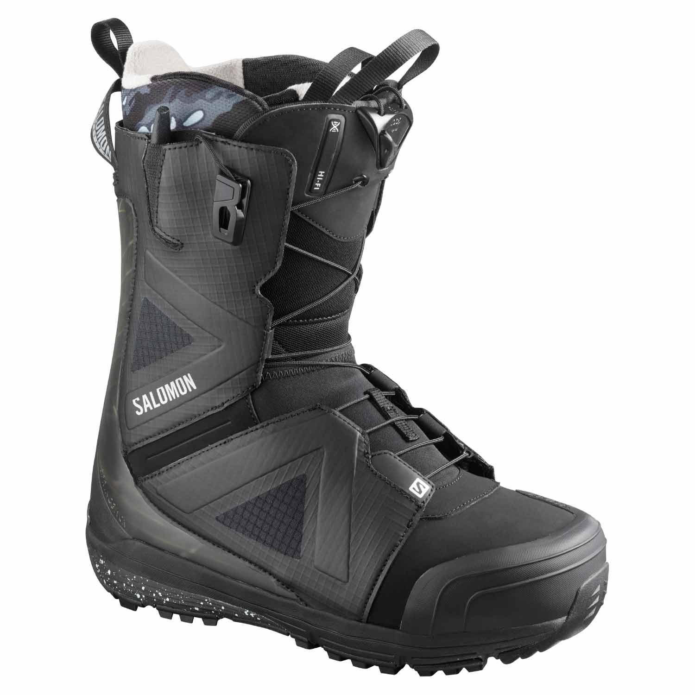 Salomon Hi Fi Wide Snowboard Boot Black/Castlerock 2020