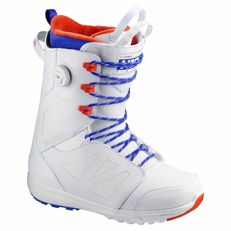 Salomon Launch Lace BOA SJ Team Snowboard Boot White/Spectre 2020