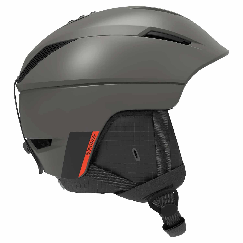 Salomon Pioneer M Helmet Beluga/Neon Red 2020