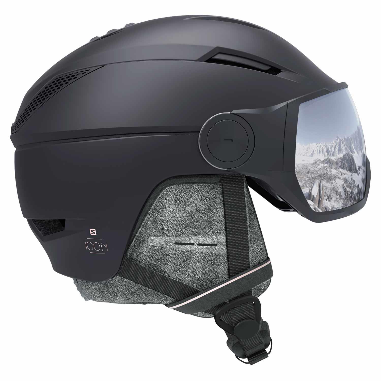 Salomon Icon² Visor Helmet Black/Silver Uni 2020