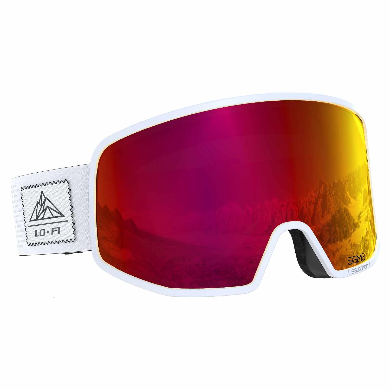Salomon Lo Fi Sigma Goggle White/Uni Poppy Red Lens 2020