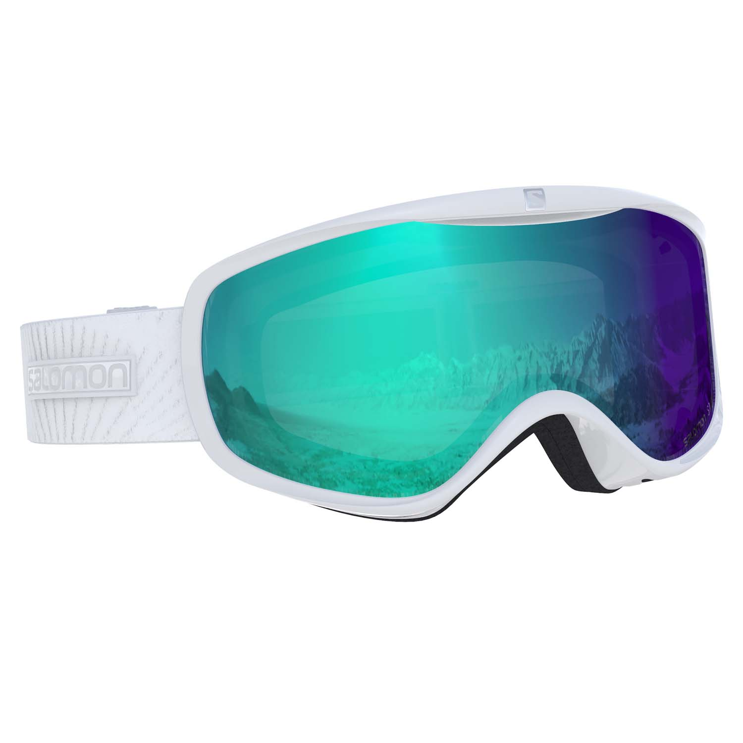 Salomon Sense Photo Goggle White/All Weather Blue Lens 2020