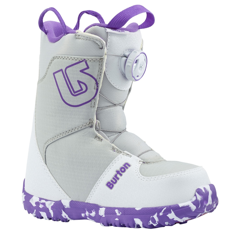 Burton Grom Boa Kids Boot White / Purple 2019