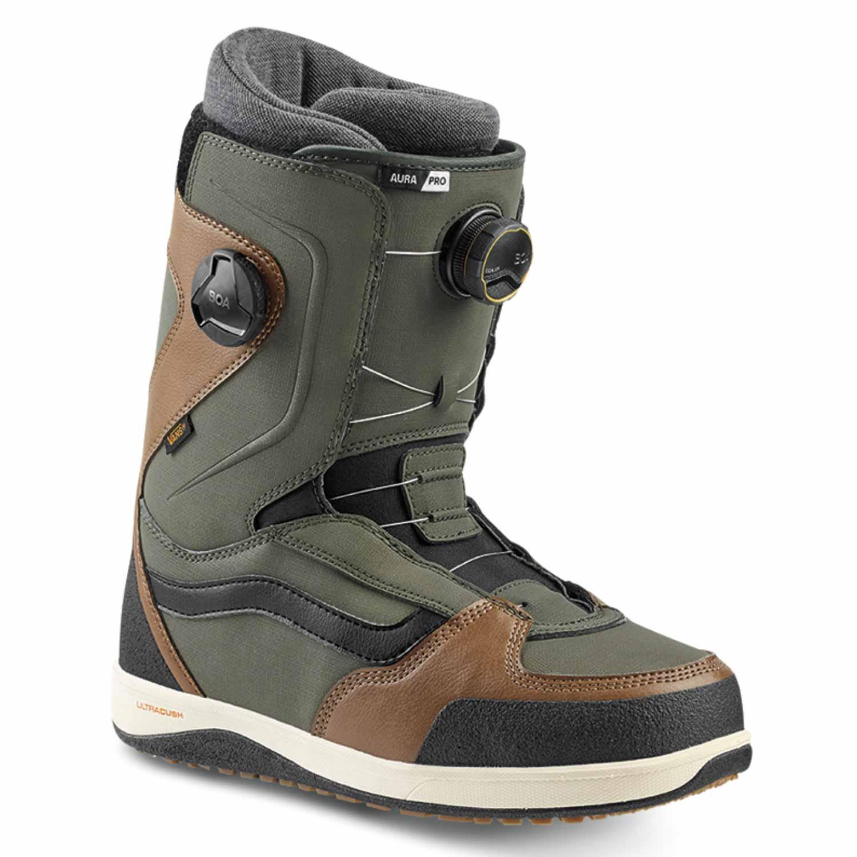 Vans Aura Pro Snowboard Boot Green/Brown 2020