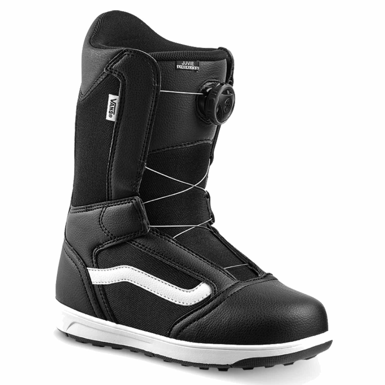 Vans Juvie Linerless Snowboard Boot Black/White 2020