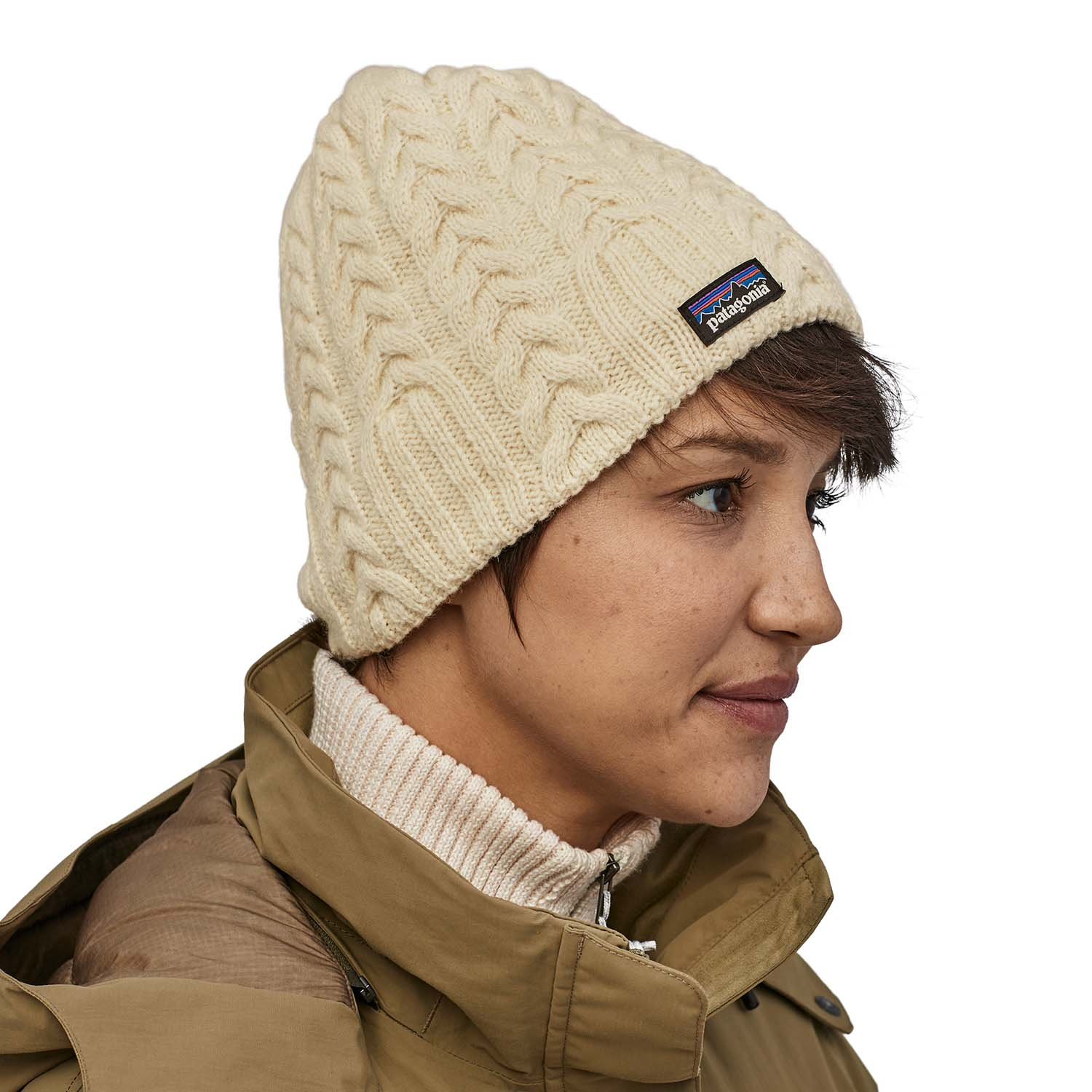 Patagonia Womens Cable Beanie Birch White 2020