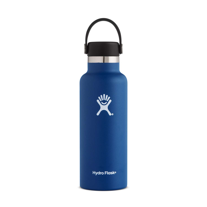 Hydro Flask 18oz Standard Mouth Water Bottle with Flex Cap Cobalt