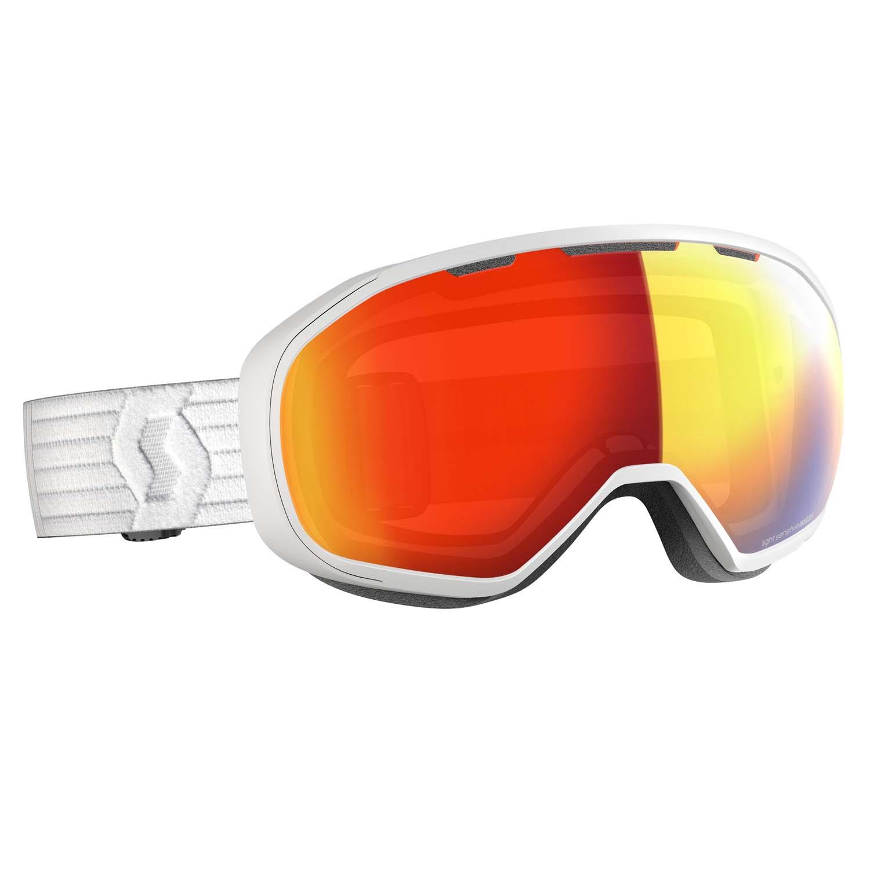 Scott Fix Goggle White LS Red Chrome Lens 2020