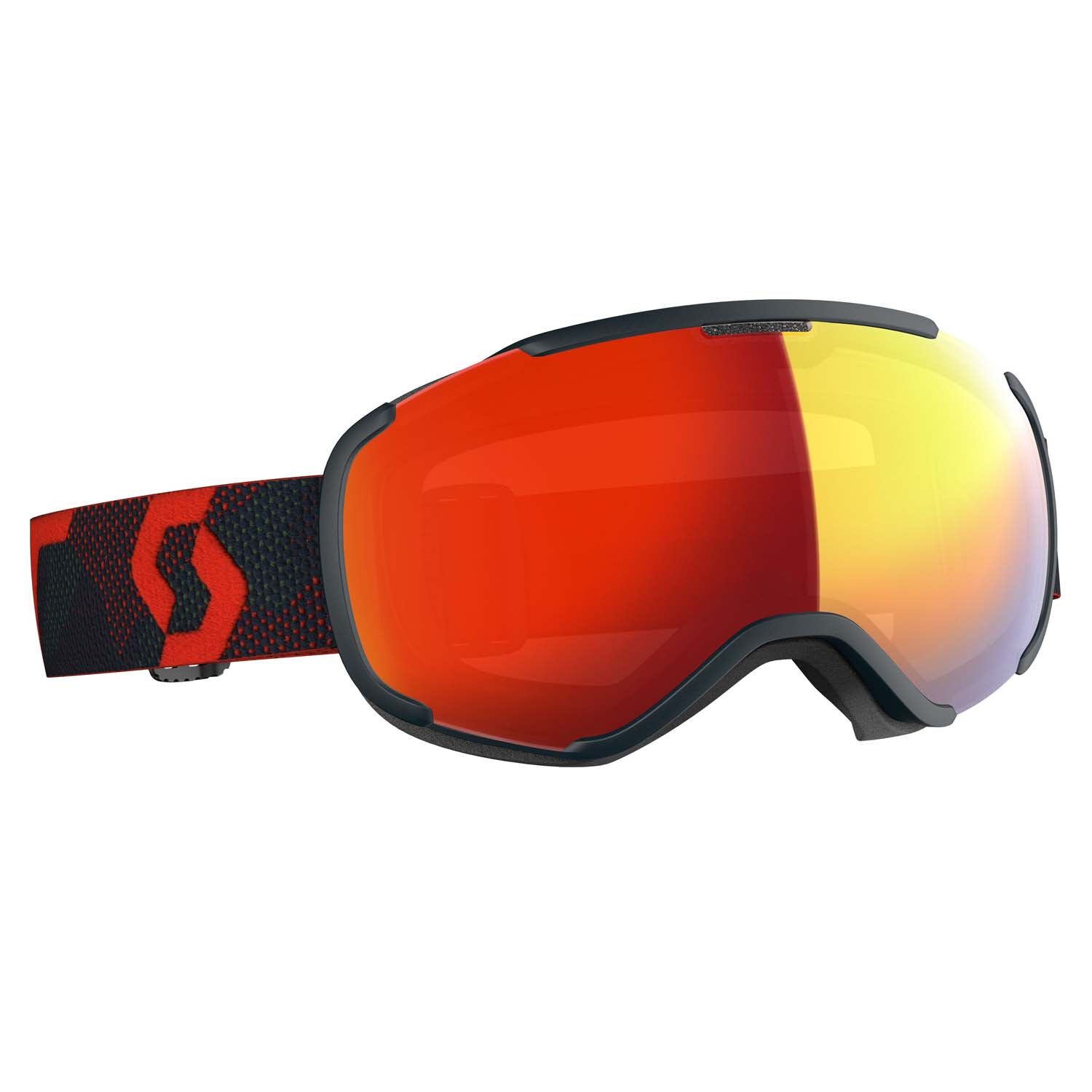 Scott Faze II Goggle Blue Nights/Merlot Red LS Enhancer Red Chrome Lens 2020