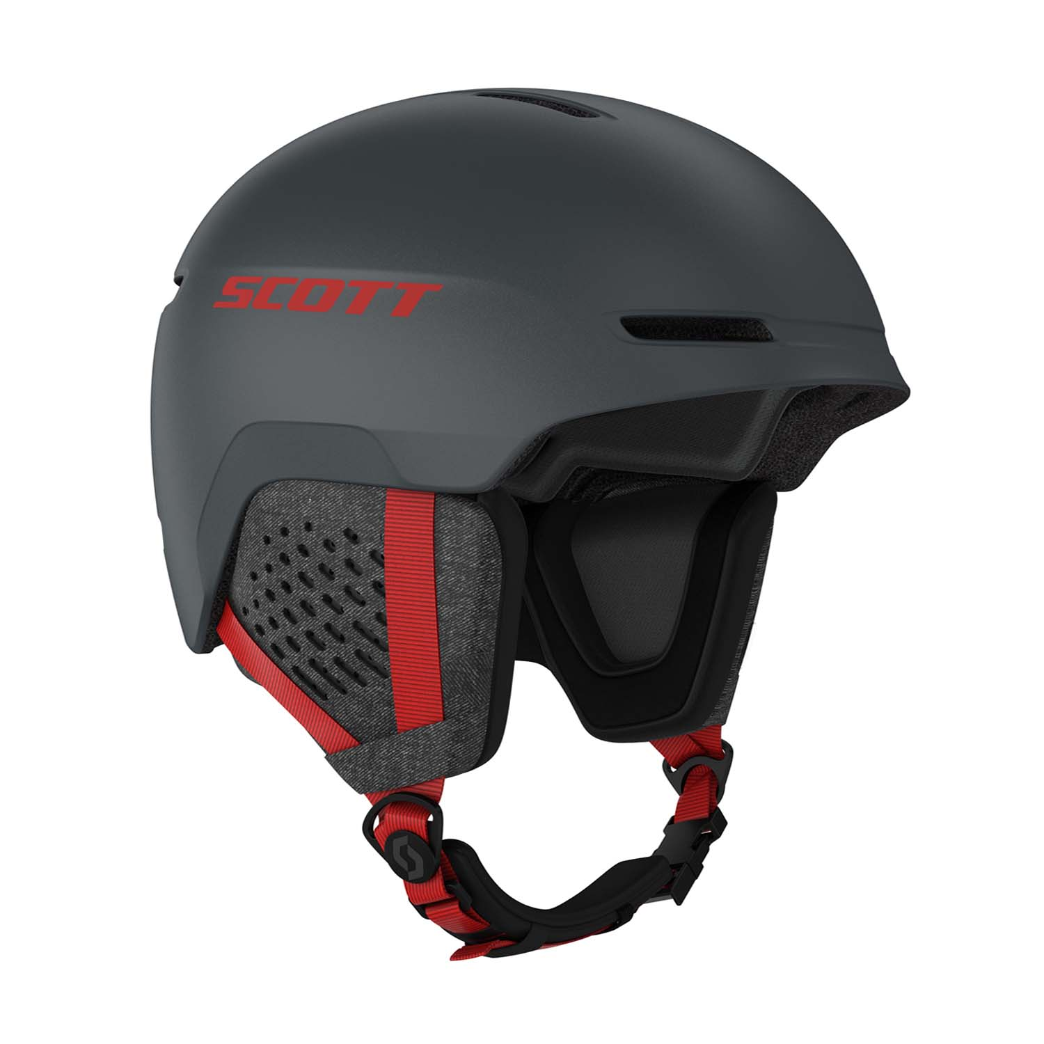 Scott Track Helmet Iron Grey/Red 2020