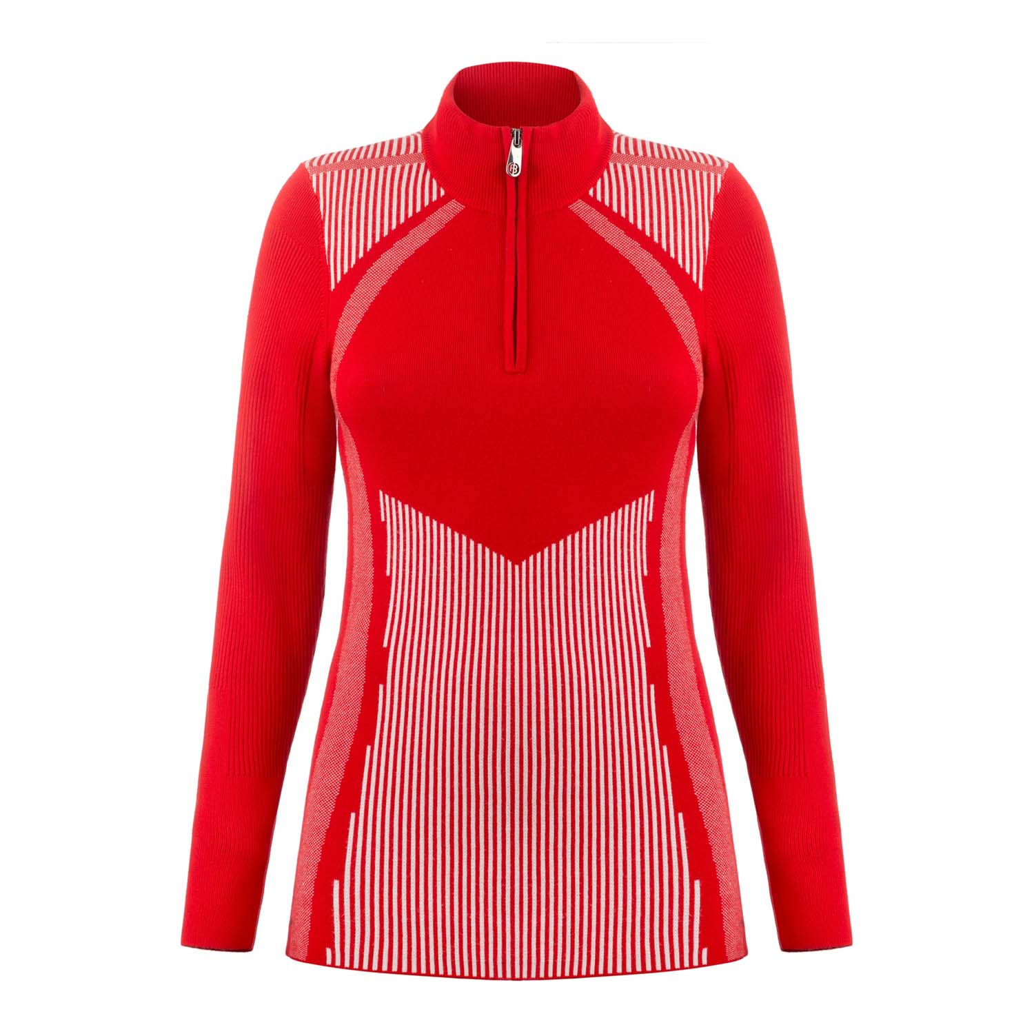 Poivre Blanc Knit Sweater Scarlet Red/White 2020