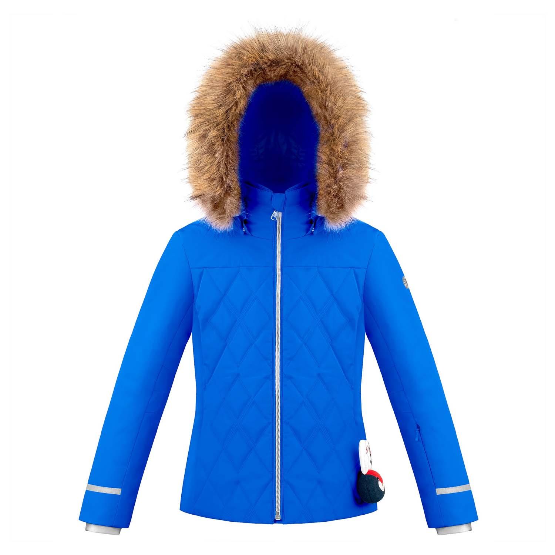 Poivre Blanc Junior Quilted Faux Fur Ski Jacket True Blue 2020