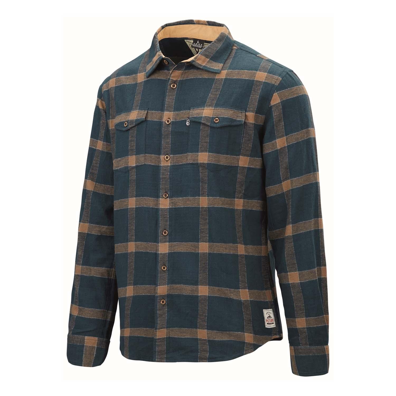 Picture Hillsboro Flannel Shirt Petrol Blue 2020