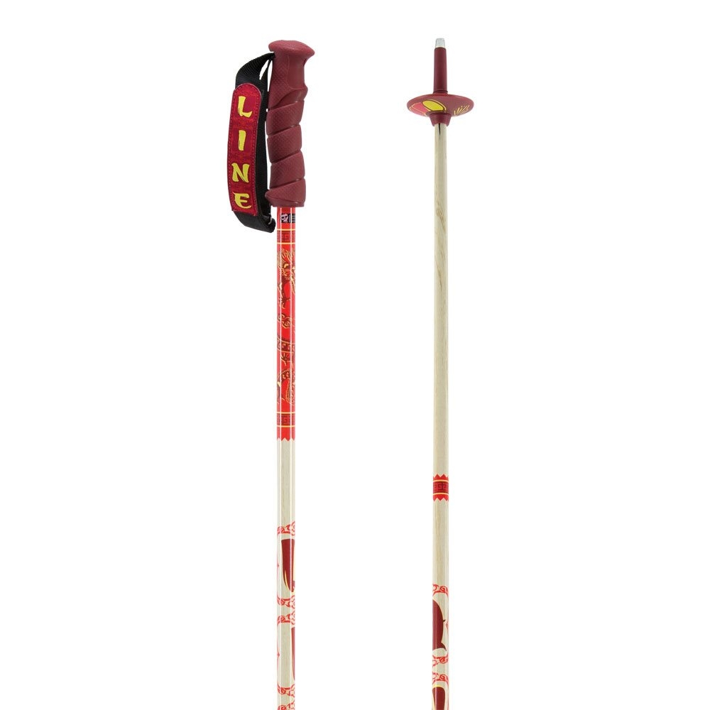 Line Chopstick Ski Pole Red 2018