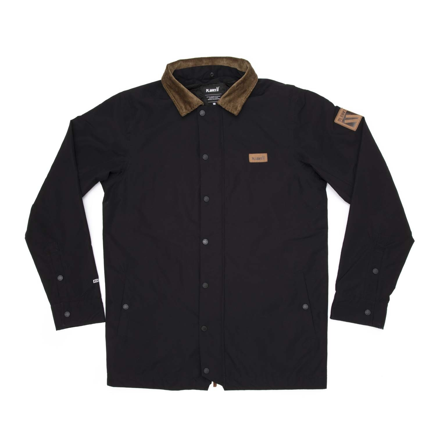 Planks Throw-Down Collared Jacket Black 2020
