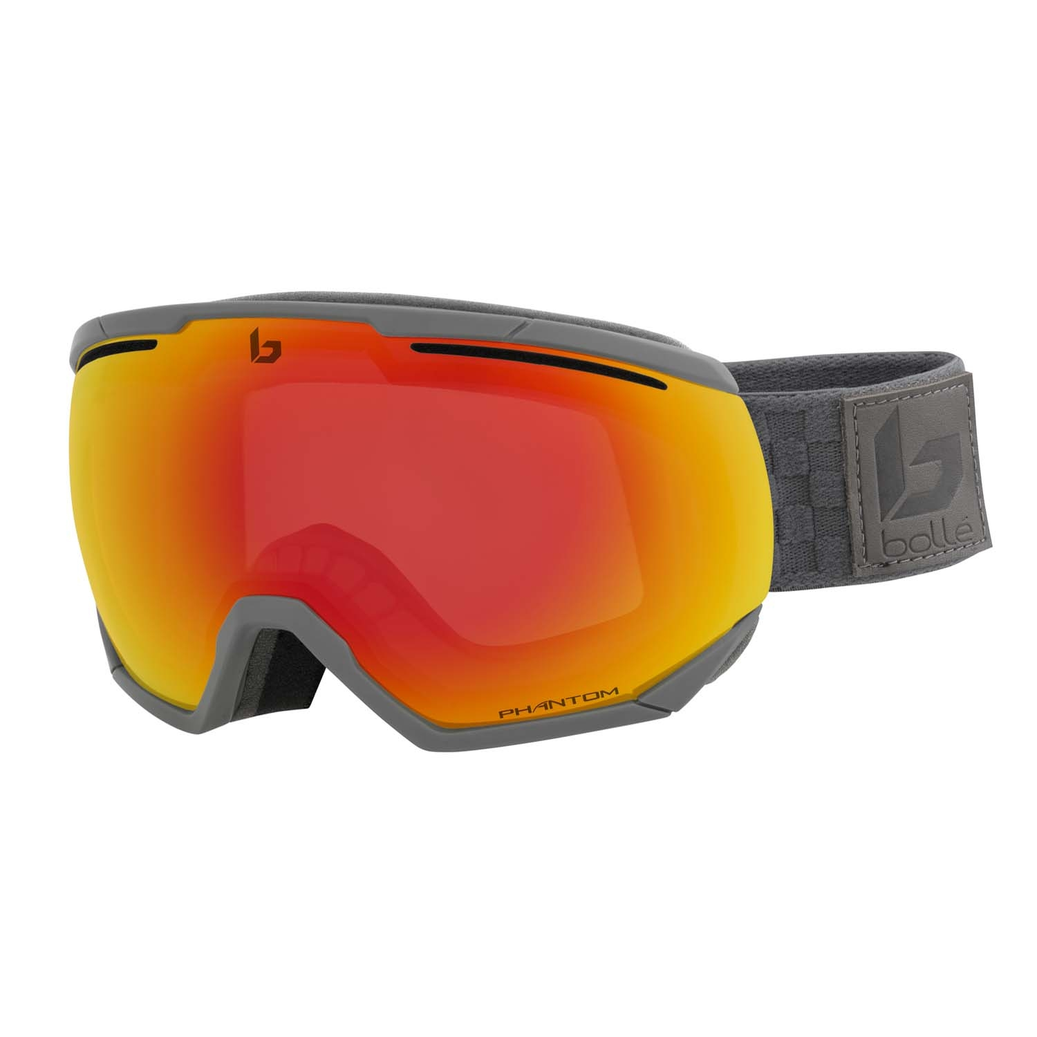Bolle Northstar Goggle Matte Grey Squares Phantom Fire Red 2020