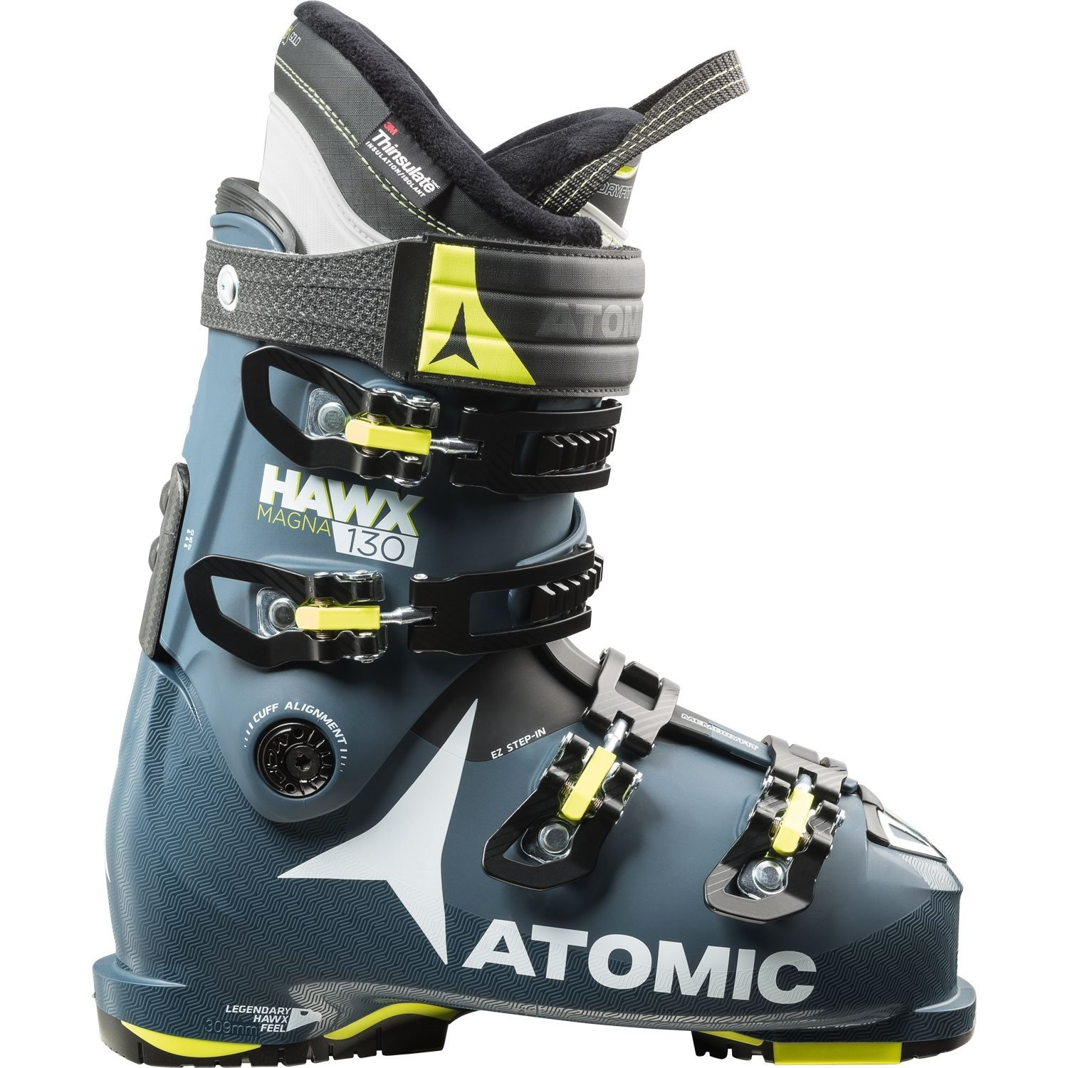Atomic Hawx Magna 130 Ski Boot Dark Blue / Lime 2018