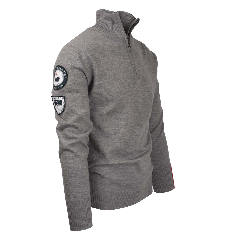 Amundsen Peak Half Zip Sweater Light Grey 2020