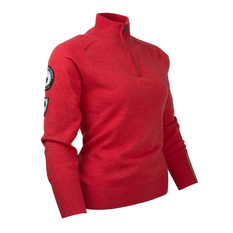 Amundsen Womens Peak Half Zip Sweater Weathered Red 2020