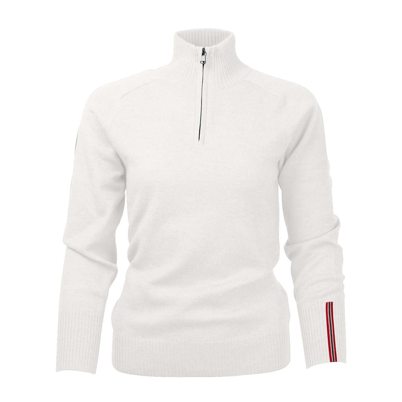 Amundsen Womens Peak Half Zip Sweater Oatmeal 2020