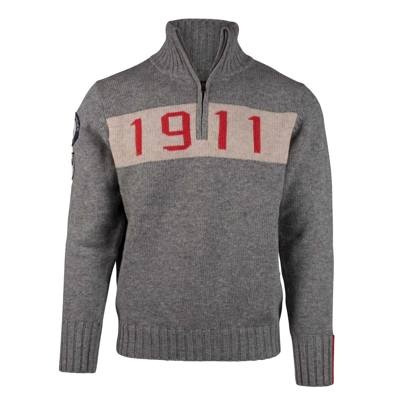 Amundsen 1911 Half Zip Sweater Light Grey 2020