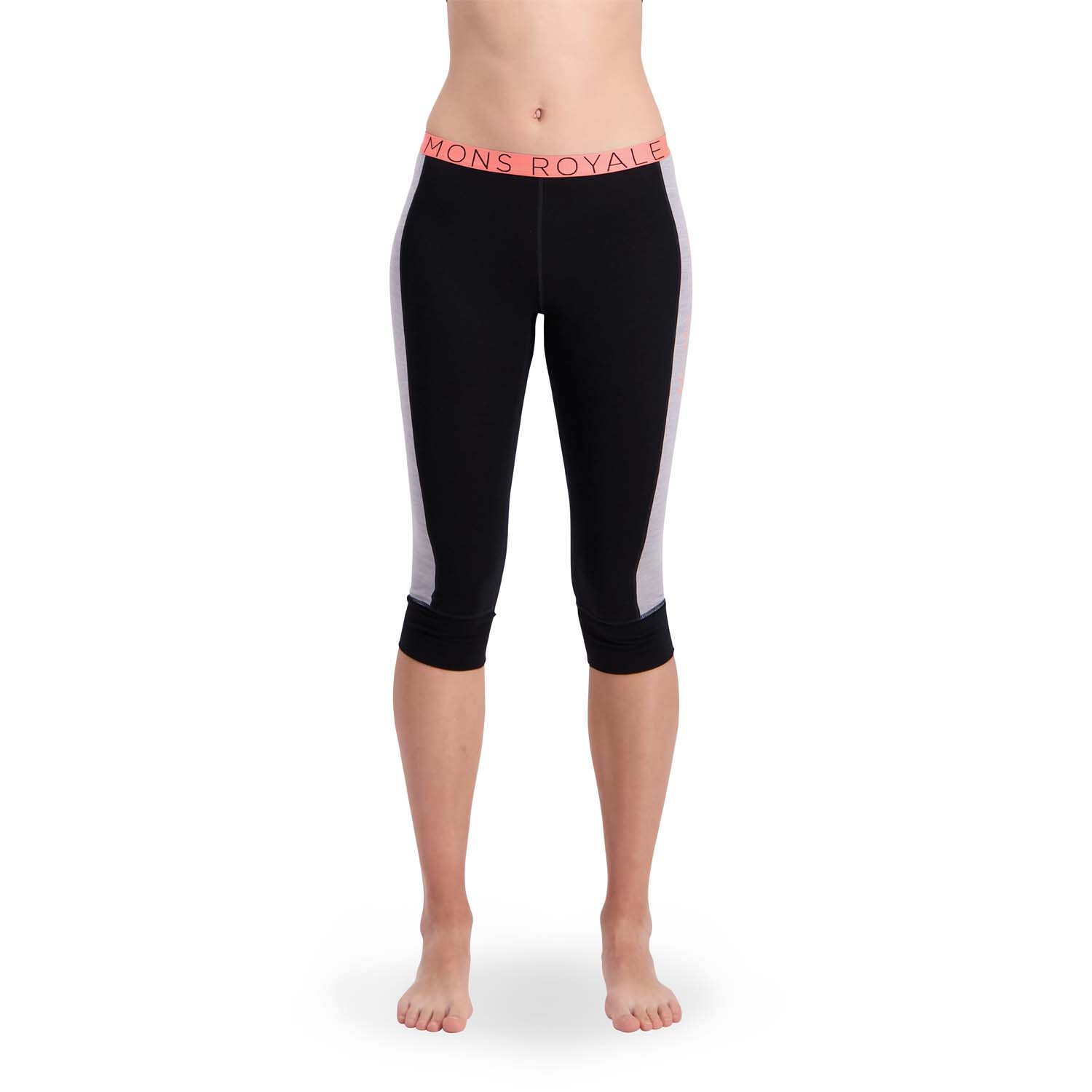 Mons Royale Alagna 3/4 Legging Grey Marl/Black 2020