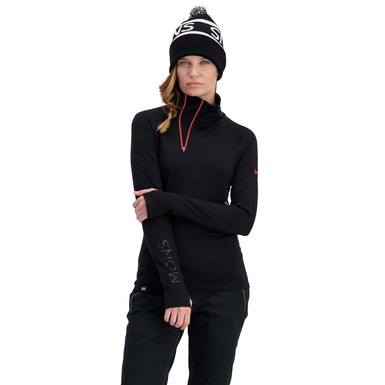 Mons Royale Womens Olympus 3 0 Half Zip Black 2020