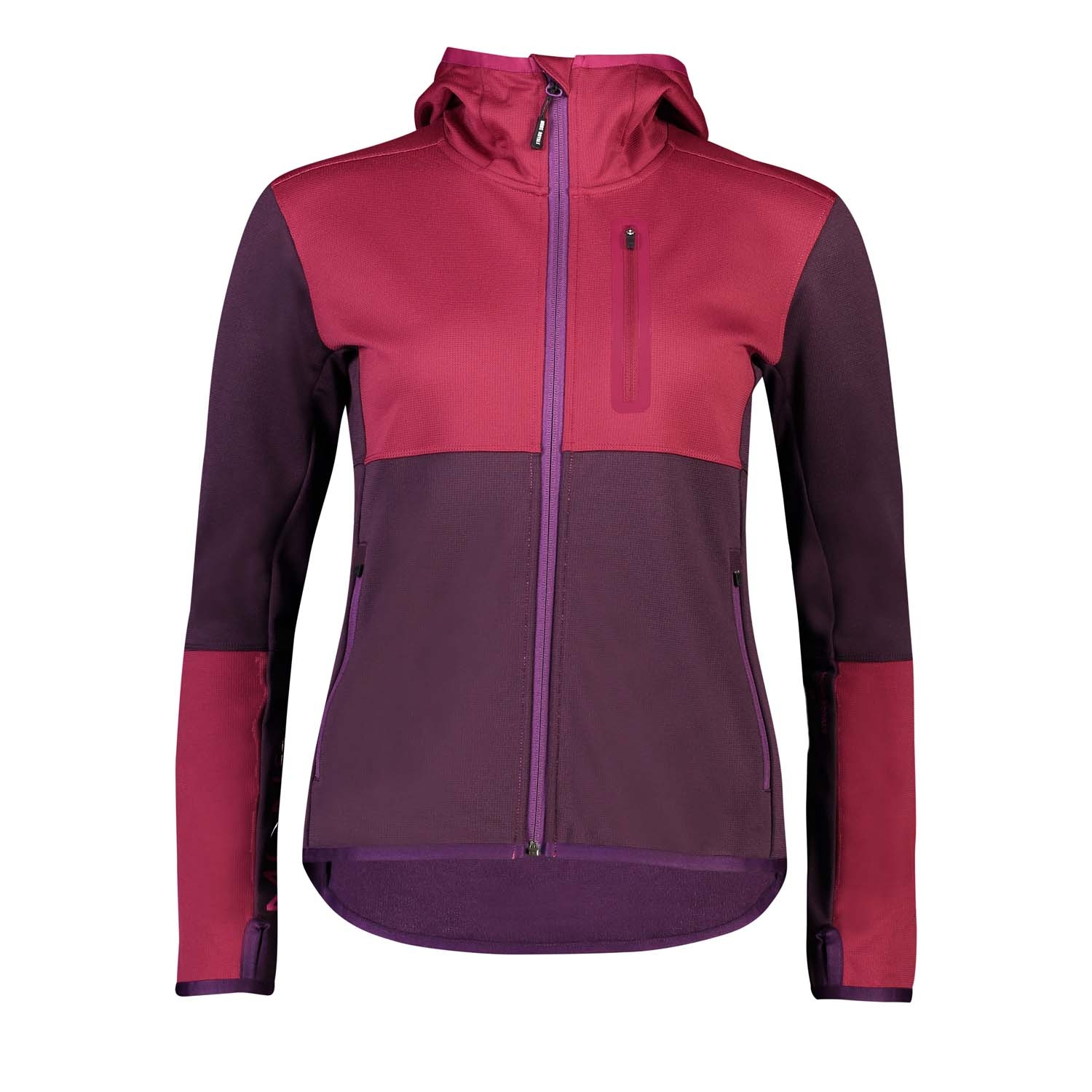 Mons Royale Approach Tech Mid Hoody Eggplant/Rosewood 2020
